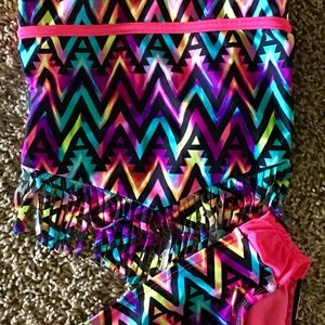 Beach time!! Girl's multicolored swimsuit